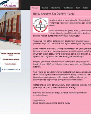 kız yurdu web tasarım