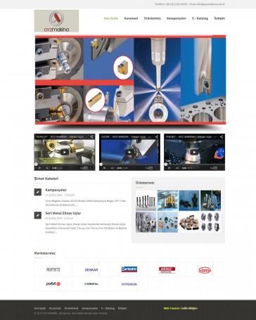 makina firması web tasarım
