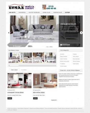 mobilya mağazası web tasarımı