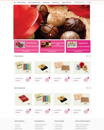 çikolata firması web tasarım