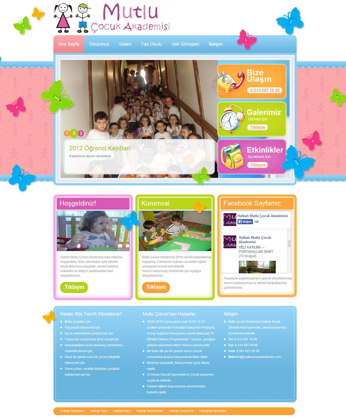 anaokulu için web tasarım