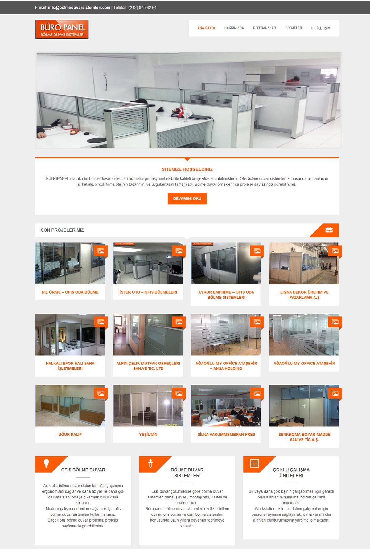 ofis bölme duvar firması mobilya