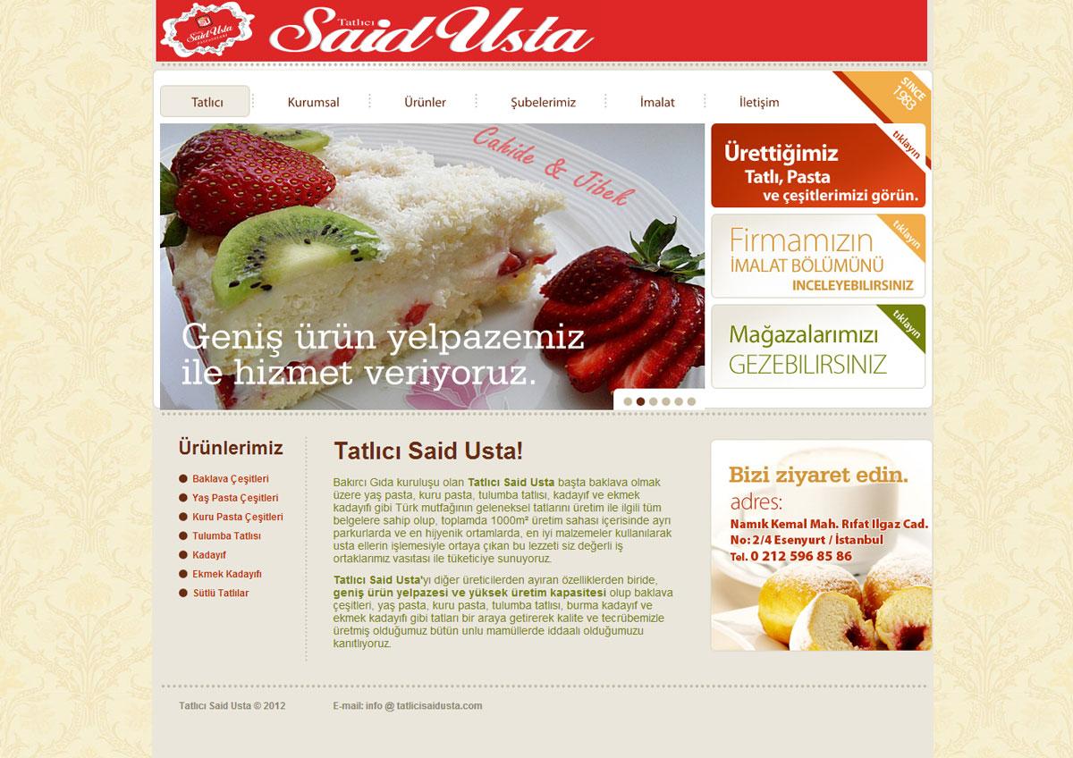 tatlıcı web tasarımı